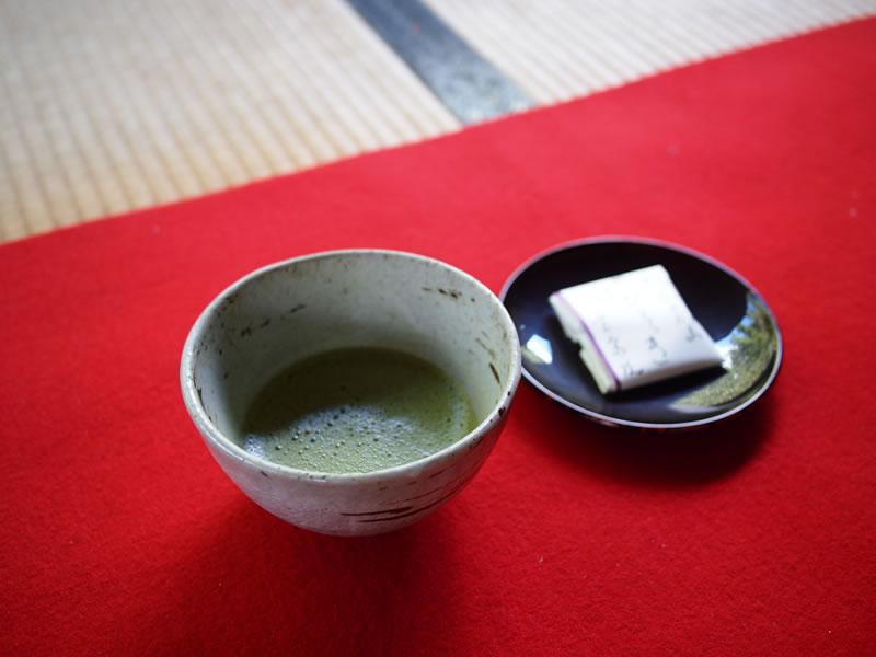 京都 大原 宝泉院 抹茶