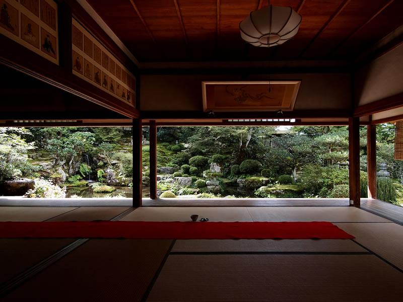京都 大原 実光院 日本庭園