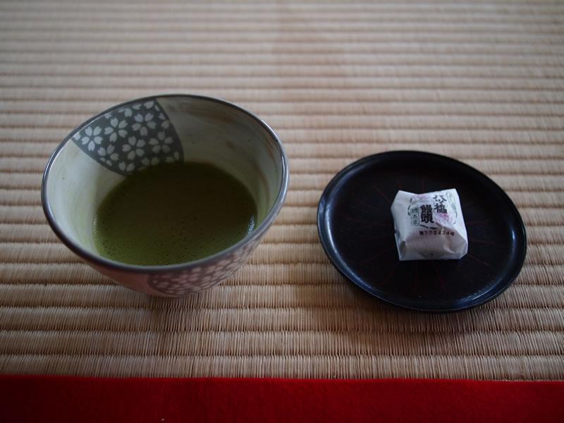 京都 大原 実光院 抹茶