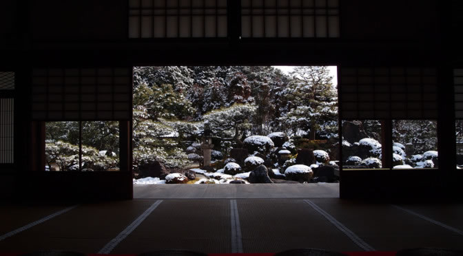 京都 妙満寺の雪景色(Covered with snow of Myoumanji temple in Kyoto,Japan)