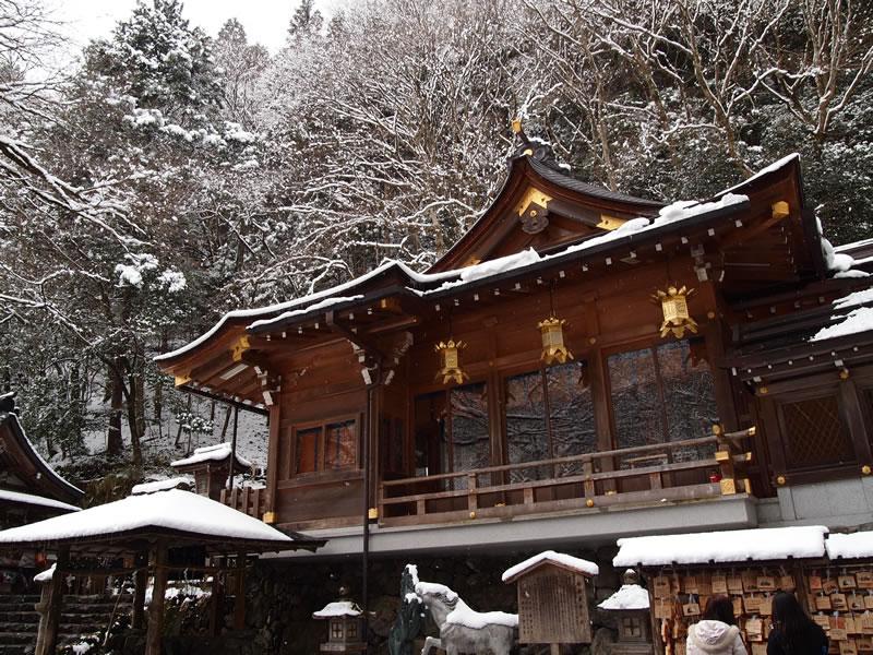 京都 貴船神社 雪景色