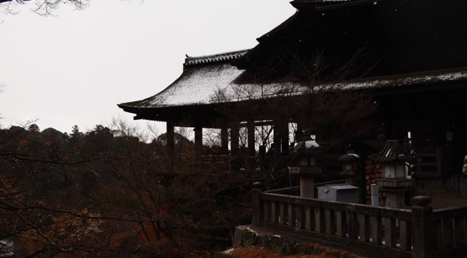 京都 清水寺の雪化粧(Covered with snow of  Kiyomizudera temple in Kyoto,Japan)