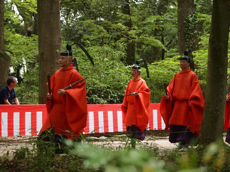 葵祭 糺の森 下鴨神社